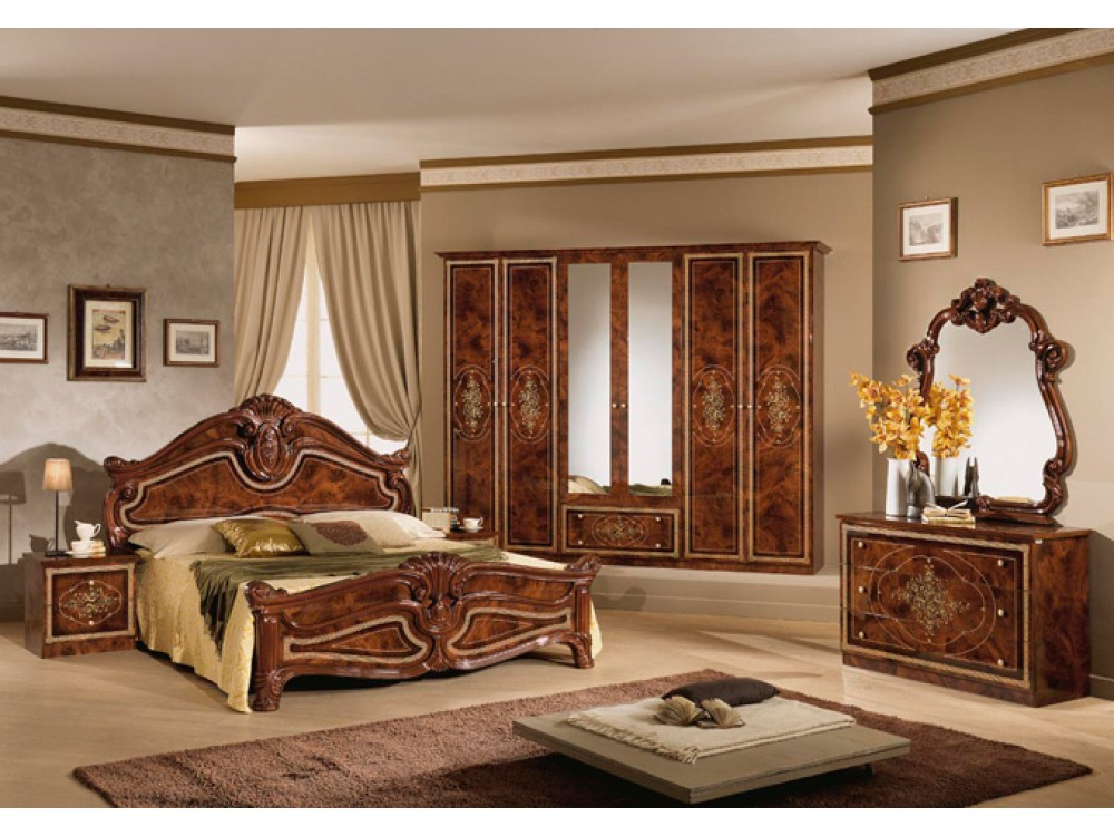 dormitor clasic amalfi nocce. Black Bedroom Furniture Sets. Home Design Ideas